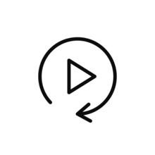 Replay Icon Vector