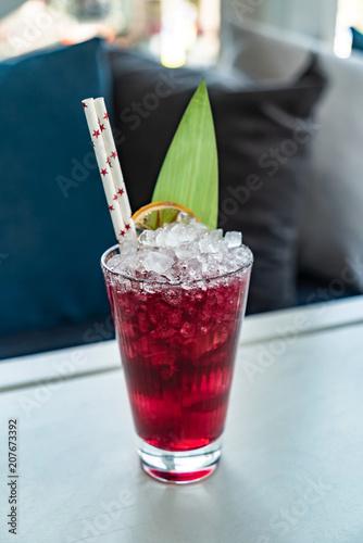 Fotobehang Cocktail summer lemonade with ice