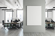 canvas print picture - Contemporary coworking interior with banner