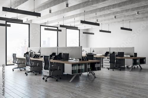 Obraz Contemporary coworking office interior - fototapety do salonu