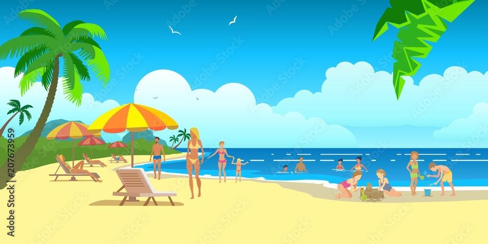 Fototapeta holiday paradise