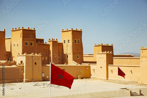 Tuinposter Oude gebouw Taoururt Kasbah landscape sunny day