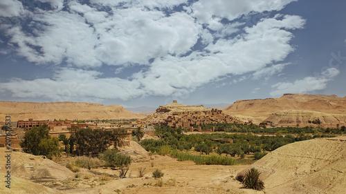 Cadres-photo bureau Con. Antique Ait Ben Haddou Kasbah landscape sunny day