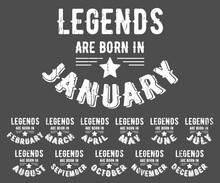 Legends Are Born Vintage T-shi...