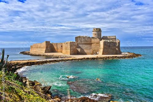 The castle in the Isola di Capo Rizzuto, Calabria, Italy