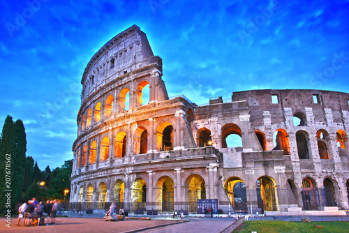 The Colosseum or Coliseum in the city of Rome, Italy. Canvas-taulu