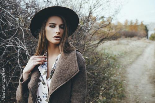 Poster Gypsy sad mood of autumn