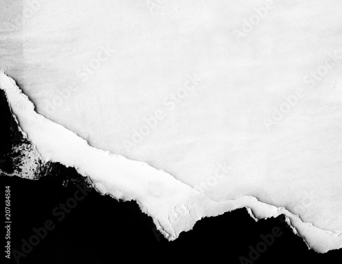 White blank crumpled paper texture background creased old poster texture backdrop surface empty for text Wall mural