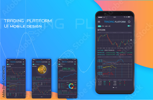 Trade Exchange On Phone Screen Mobile Banking Cryptocurrency Ui Online Stock Trading Interface