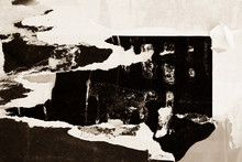 Old Grunge Ripped Torn Vintage Collage Sepia Posters Creased Crumpled Paper Surface Texture Background