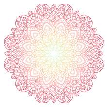 Mandala Pattern Colored Backgr...