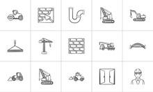 Construction Sketch Icon Set F...