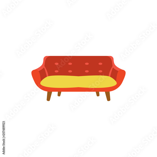 Modern Sofa Flat Icon Interior Or Room Design Template In Flat
