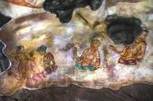 Famous Frescos In Sigiriya, Sri Lanka.