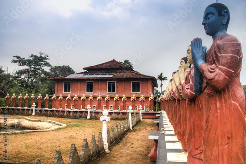Fototapeta Buddhist temple in Sigiriya, Sri Lanka.