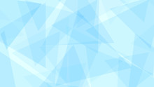 Abstarct Background Of Translucent Triangles In Light Blue Colors