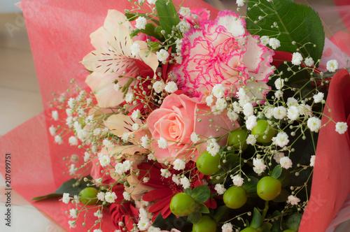 Leinwand Poster Blumenstrauß aus Rosen