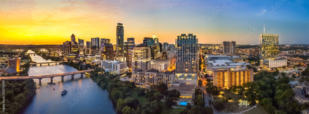 Fototapety, obrazy: Austin Skyline in the evening