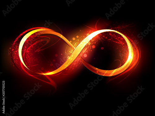 Photo fire symbol of infinity