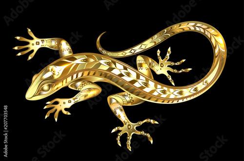 Photo Golden lizard