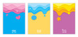 Illustration vector of colorful background design with pink, blue, purple colors for set cover or template.