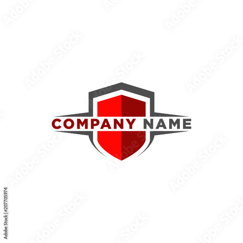 Canvas-taulu shield logo design template