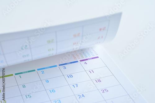 Obraz Calendar on a white background   - fototapety do salonu