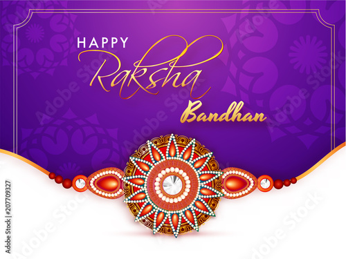 Rakhi, Indian brother and sister festival Raksha Bandhan concept. фототапет