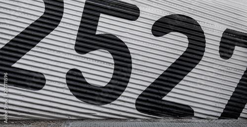 Fotografia  flank of a plane ju 52
