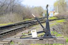 Old Railway Arrow. Retro
