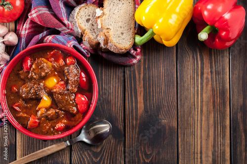 Traditional Hungarian beef goulash Fototapete