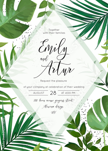 9d542150fdf Wedding floral watercolor invite