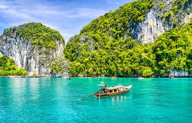 Phuket sea boat island landscape