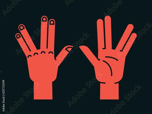Valokuvatapetti Gesture