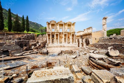 Keuken foto achterwand Historisch geb. Celsus library in Ephesus, Turkey
