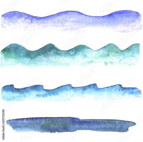 Abstract wave Watercolor collection of waves.
