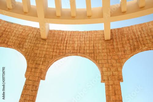 Fotobehang Theater Beautifully stylish Egyptian columns on nature background