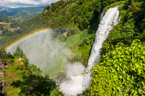 Foto op Canvas Watervallen Marmore falls, Cascata delle Marmore, in Umbria, Italy. The tallest man-made waterfall in the world.