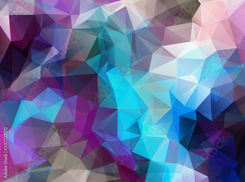 Horizontal Extra color geometric triangle wallpaper