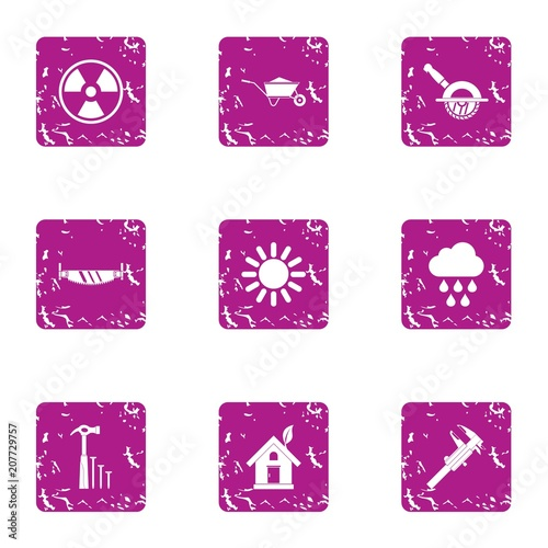 Fotografie, Obraz  Absolute energy icons set