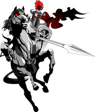 Black Knight On Horseback