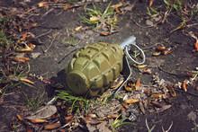Hand Grenade Grenade Lying On The Ground