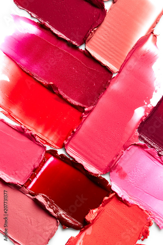 Lipstick smears background