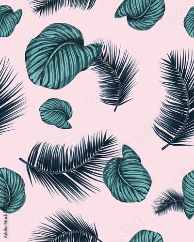 jednolite-wzor-tropikalny-indygo