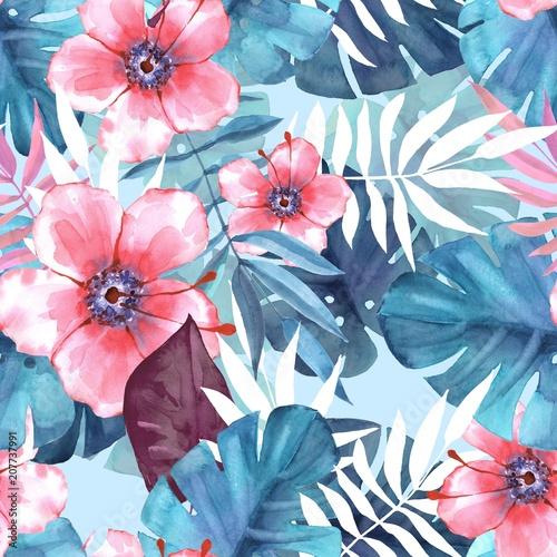 tropikalny-wzor-3-akwarela-ilustracji