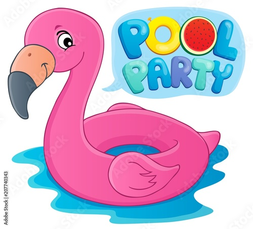 Fotobehang Voor kinderen Pool party theme image 5