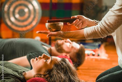 Fotografie, Obraz  Tibetan singing bowl