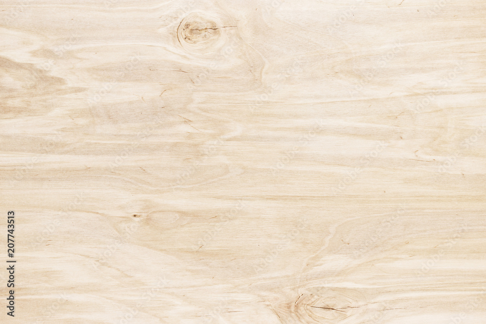 Light wood background. Wooden table or board, close-up texture