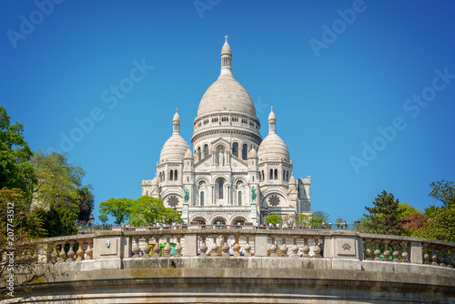 Keuken foto achterwand Centraal Europa The Basilica of the Sacred Heart in Montmartre, Paris France