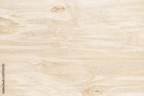 Fotografia  Light wood background. Wooden table or board, close-up texture